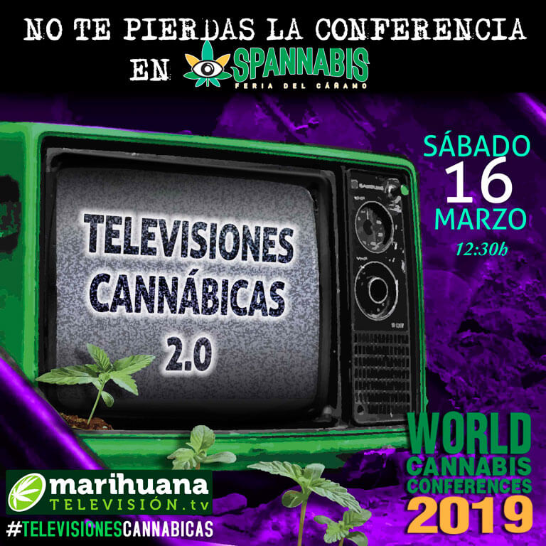 Conferencia de televisiones cannábicas en las World Cannabis Conferences de Spannabis.